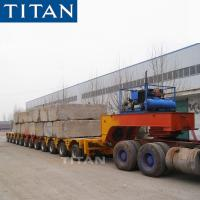 Cheap TITAN Combinable road going transport mechanical Steer hydraulic platform trailers for sale
