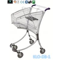 40L Airport / Supermarket Shopping Trolley Zinc Plated , Presonal Shopping Cart