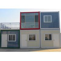 Waterproof Flat Pack Container House , Fast Efficient Double Container House