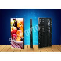 Cheap Ultra Thin Transparent Glass LED Curtain Screen Advertising Aluminum Cabinet wholesale
