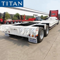Cheap Low bed Vehicle - 2 line 4 axle low loader trailer for sale for sale
