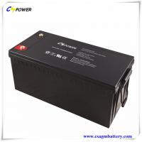China 12V 200Ah deep cycle solar gel battery with 3 years warranty on sale
