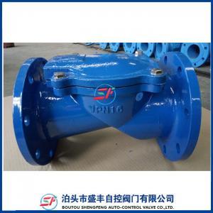 Cheap H44X ductile iron rubber disc check valve for sale