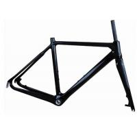 Cheap Light Weight UD Finishing Carbon Cyclocross Bike Frames 700C Disc Brake T700 for sale