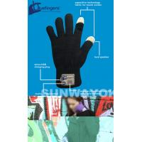Cheap Knitting Bluetooth Beanie Hat / Gloves With Touch Screen For Promotion for sale