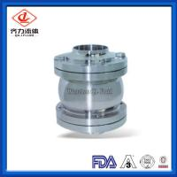 China Three Pieces Sanitary Stainless Steel Valves DN25-DN150 Flange Check Valve on sale