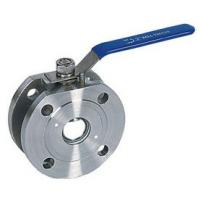 Cheap Full Bore Flanged 1000 WOG Ball Valve PN16 1 Piece Wafer Type wholesale