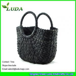 Cheap black cornhusk straw hobo handbags online for sale