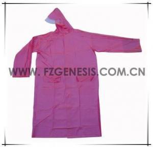 #adult035 pvc long ladies raincoat
