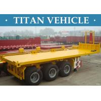 Cheap 20ft / 40ft Flatbed Container Dump Tipper Trailer Tri Axle For Transport for sale