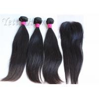 Cheap 18 Inches 8A Brazilian Human Hair Extensions / Smooth Real Virgin Hair weaving wholesale