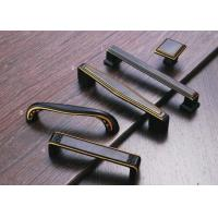 Cheap Corosion Resistant Kitchen Cupboard Door Handles Black / Yellow Copper Finish for sale