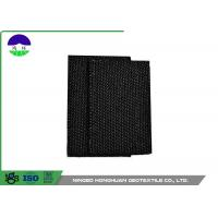 Cheap Polypropylene Monofilament Woven Geotextile Fabric Black Color 100kn / 100kn for sale