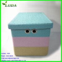 Cheap Extra large weave canvas household storage box for sale
