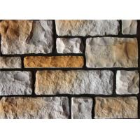 Cheap Colorful Artificial Wall Stone For Interior / Exterior Wall Decoration Irregular Size for sale