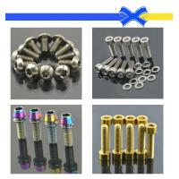 Racing titanium screw bolt motorcycle bolts anodized bolts