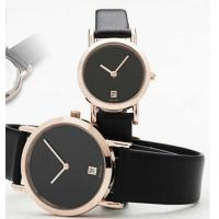 Cheap Black Leather Strap Quartz Watch Suitable for Couples and Lovers for sale