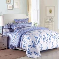 Cheap Purple Colorem Broidered Flower Home Bedding Sets Tencel Duvet Cover / Sheet Set for sale