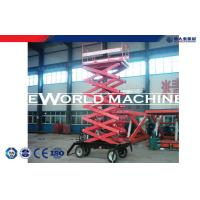 Quality Vertical Folding Four-wheel Trailing mobile hydraulic scissor lift 6 - 20m wholesale