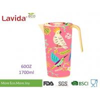 Cheap Heat Resistance 100% Food Grade Safe Bamboo Water Jug Disposable Beverage Jug Contemporary Style with LOGO and Prints for sale
