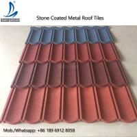 China Metal Roofing Sheets Stone Coated Terracotta Red Coating Steel Roof Tile Prices on sale