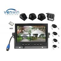 Buy cheap 4 Channels AHD 720P 7 Inch TFT Quad Car Monitor DVR Support HDD Storage New Arrival from wholesalers