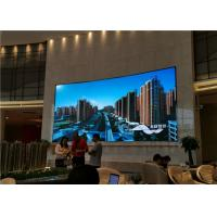 Cheap Curved Flexible Indoor Full Color Led Screen , Stage Led Video Wall 3 Years Warranty for sale
