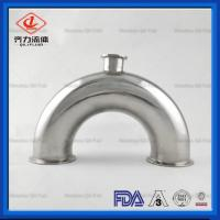China Sanitary Stainless Steel Clamped End U Type 180 Degree Tee on sale