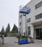 Cheap Dual mast vertical access platform aerial work platform aluminum lift for sale