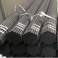 Cheap China factory price Black Painted ERW Steel Pipe with Bevel Ends for sale