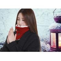 Cheap DC5V Battery Operated Heated Scarf With Power Bank Button Design Removable for sale