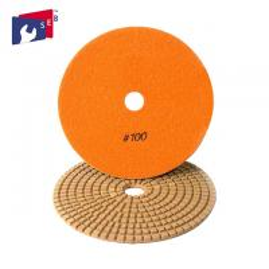 China Orange Diamond Stone Polishing Pads , 5 Inch Concrete Polishing Pads on sale