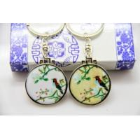 Cheap corporate business merchandise products China ceramic keychains for sale