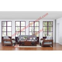 Cheap Solid Wood Sofa with Upholstery for Luxury Living Room Made in China for sale
