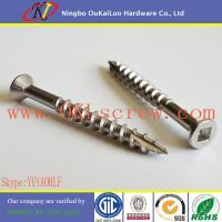 Cheap Countersunk Head Square Drive Stainless Steel Decking Screws for sale