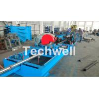 Cheap Step Beam Rack Roll Forming Machine With Welding Line , Servo Flying Saw Cutting Device for sale