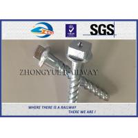 Steel 35# Spiral Spike nails HDG coating  For Rail Fastening System