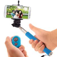 universal mobile phone monopod selfie stick with bluetooth remote control shutter button of. Black Bedroom Furniture Sets. Home Design Ideas