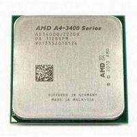 Quality 65W AMD A4 X2 Dual Core A4-3400 CPU Processor with 2.7GHz Frequency and FM1 Socket wholesale