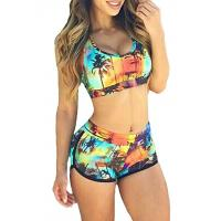 Buy cheap High Stretched Womens Swimming Suits Two Piece Swimwear 82% Nylon 18% Spandex from wholesalers