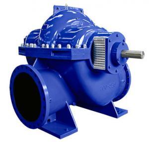 Cheap Big Flow Double Suction Volute Pump , Horizontal Split Case Pump Electric / Diesel Motor for sale