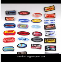 Cheap Manufacturer OEM custom design 3D embossed PVC rubber patch,silicone rubber garment badge for sale