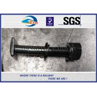 """Cheap 7/8"""" x 158mm Black Plated Square Bolts with Nuts & Washers for railway fastening for sale"""