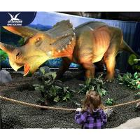 Cheap Water Resistant 4 Meters Large Realistic Dinosaur Models For Museum / Square for sale