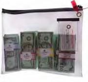 Cheap Clear Vinyl Zipper Bank Bags With PU Leather  Framed Cardholder for sale