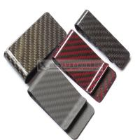 China Nice surface colored carbon fiber money clip bill clip on sale