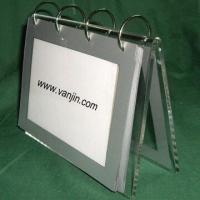 Cheap Acrylic Calendar with PVC Bags to Hold Calendar Pages, Various Sizes and Shapes are Available for sale