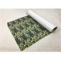Cheap Army Camouflage PU Vinyl Transfer Film Soft Hand Feeling Good Color Saturation for sale