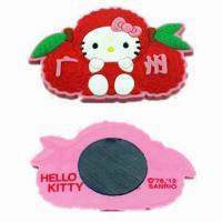 Cheap Refrigerator Magnets, Made of Soft PVC, Ideal for Promotional Gifts, Customized Designs, Many Colors for sale