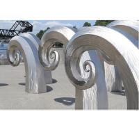 Cheap Public Art Large Metal Wave Sculpture , Outdoor Abstract Steel Sculpture for sale